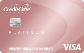 Credit One Bank® Platinum Rewards Visa with No Annual Fee