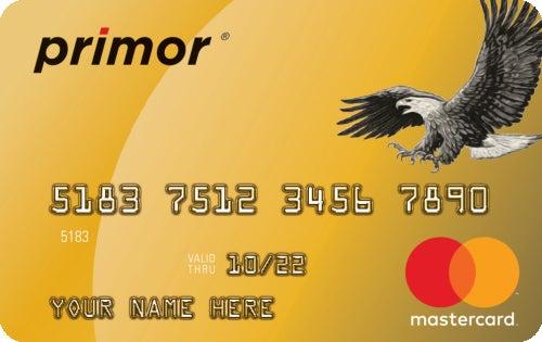 Green Dot primor® Mastercard® Gold Secured Credit Card